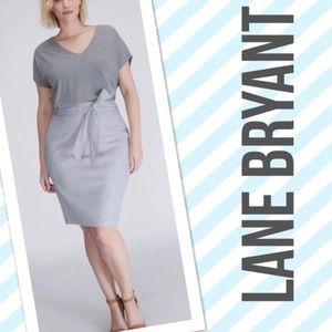 Lane Bryant Blue Stripe High Waist Skirt